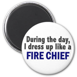 Fire Chief During The Day Fridge Magnet