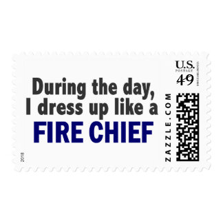 Fire Chief During The Day Postage Stamps