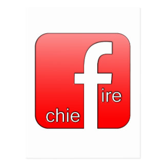 Fire Chief Facebook Logo Unique Gift Post Cards