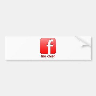 Fire Chief Facebook Logo Unique Gift Template Bumper Sticker