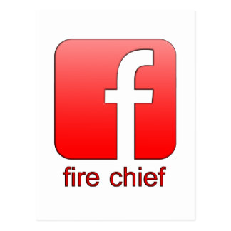 Fire Chief Facebook Logo Unique Gift Template Postcard