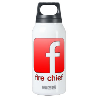 Fire Chief Facebook Logo Unique Template Thermos Bottle