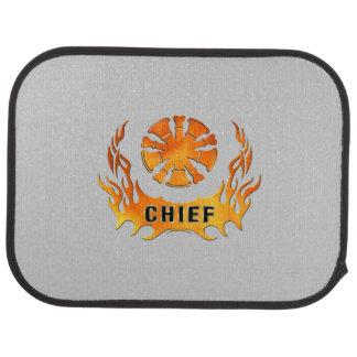 Fire Chief Flames Car Mat