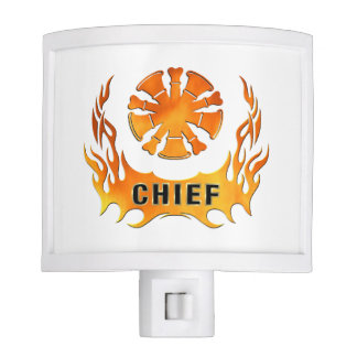 Fire Chief Flames Night Light