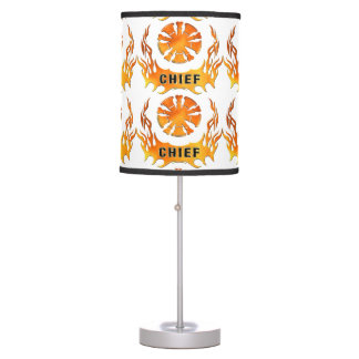 Fire Chief Flames Table Lamp