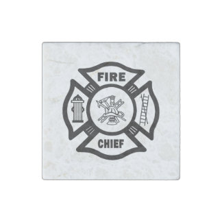 Fire Chief Stone Magnet