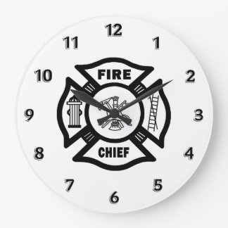 Fire Chief Large Clock