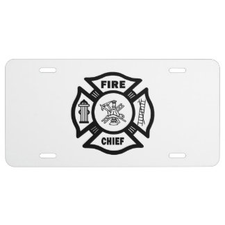 Fire Chief License Plate