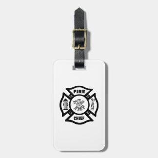Fire Chief Travel Bag Tag