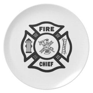 Fire Chief Melamine Plate