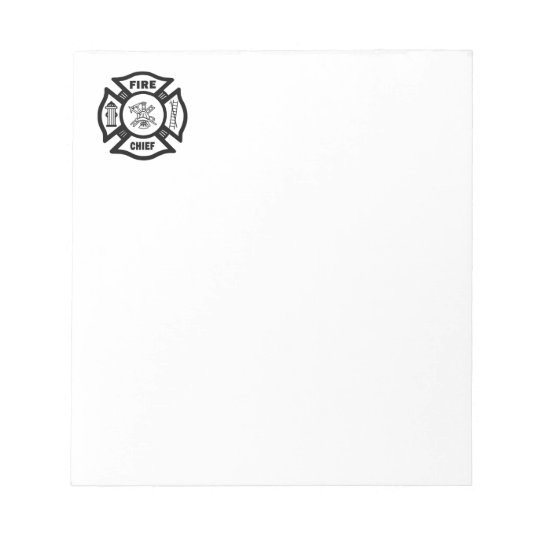 Fire Chief Notepad