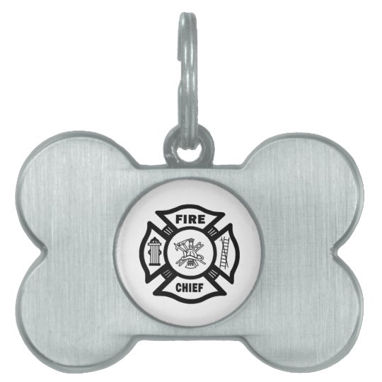 Fire Chief Pet ID Tag