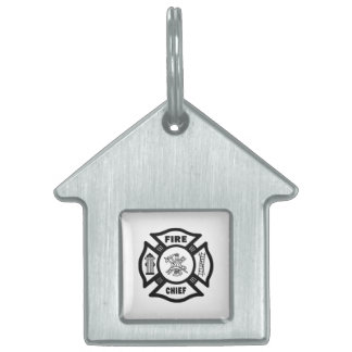 Fire Chief Pet Name Tag