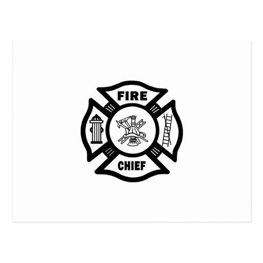 Fire Chief Postcard