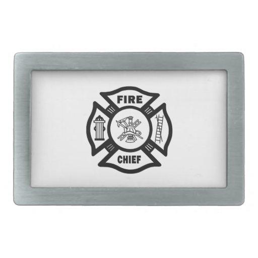 Fire Chief Rectangular Belt Buckles