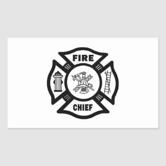 Fire Chief Rectangular Sticker