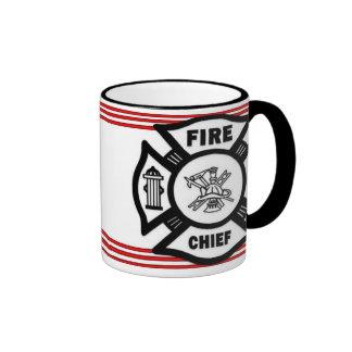 Fire Chief Ringer Mug