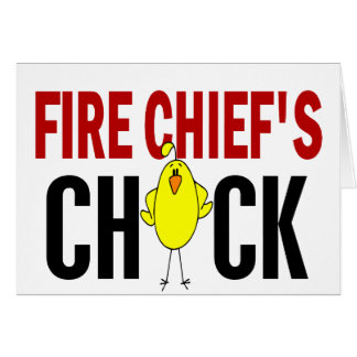 Fire Chief's Chick Greeting Cards