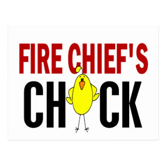 Fire Chief's Chick Post Card