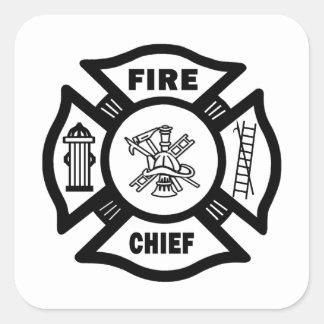 Fire Chief Square Sticker