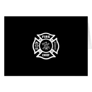 Fire Chief Stationery Note Card