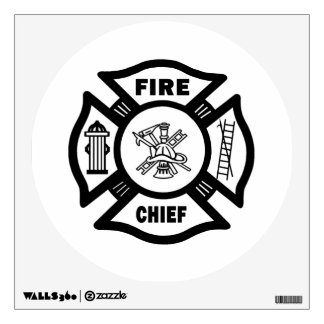 Fire Chief Room Sticker