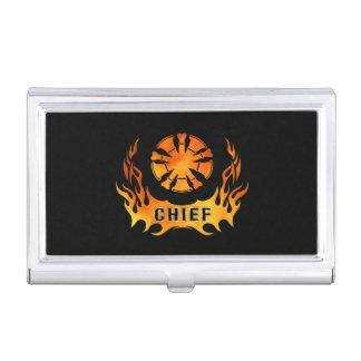 Fire Chiefs Flames Business Card Case