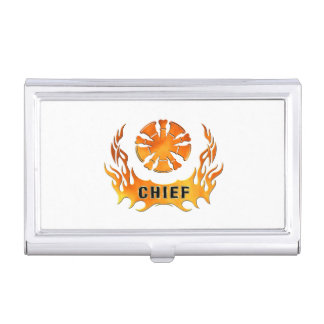 Fire Chiefs Flames Case For Business Cards