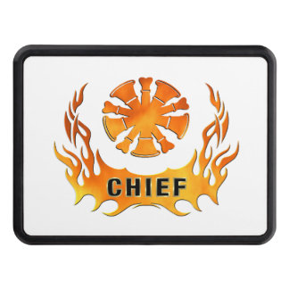 Fire Chiefs Flames Hitch Covers