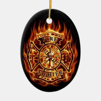 fire christmas tree ornament