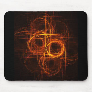 fire circle rays track mouse pads