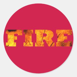 Fire Classic Round Sticker