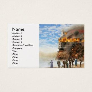 Fire - Cliffside fire 1907 Business Card