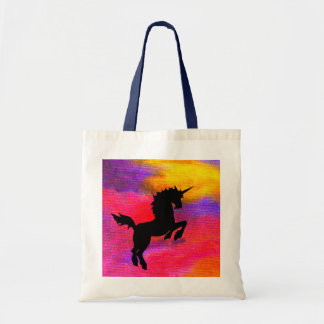 Fire Cloud Tote Bag with Blue Handle