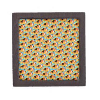 Fire Clownfish Pattern in Blue Gift Box