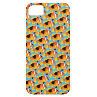 Fire Clownfish Pattern in Blue iPhone SE/5/5s Case