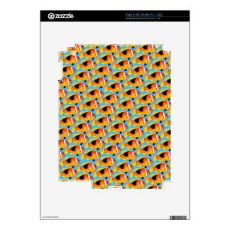 Fire Clownfish Pattern in Blue Skins For iPad 2