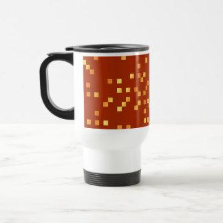 Fire Colors, Square Dots Pattern. Travel Mug