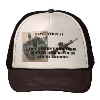fire comes from their mouths mesh hat