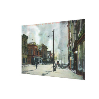 Fire Coming Up Third Street, 1906 Earthquake Canvas Print