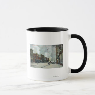Fire Coming Up Third Street, 1906 Earthquake Mug