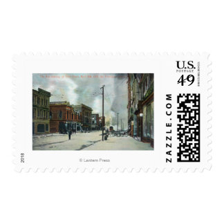 Fire Coming Up Third Street, 1906 Earthquake Stamp