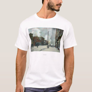 Fire Coming Up Third Street, 1906 Earthquake T-Shirt