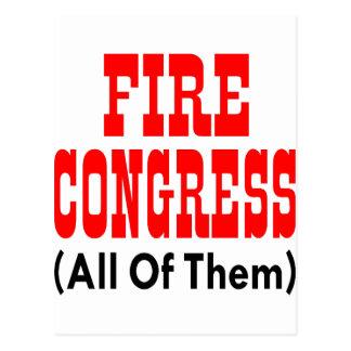 Fire Congress All Of Them Postcard
