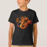 Fire Coral Dragon Kid Dark T-shirt