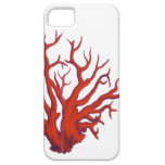 FIRE CORAL on white background phone cover