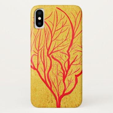 Fire coral sea nature theme modern art iPhone XS case