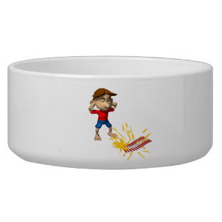 Fire Crackers Dog Food Bowls