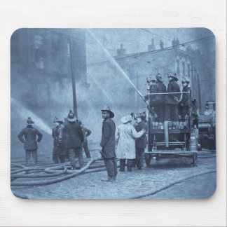 Fire Crew in Action - Vintage Mouse Pad