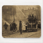 Fire Crew in Action - Vintage Mouse Pads